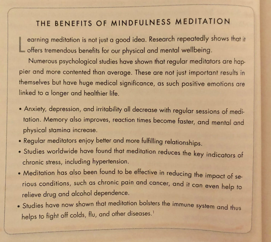 The benefits of Mindfulness Meditation